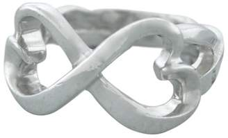 Tiffany & Co. Paloma Picasso 925 Sterling Silver Double Loving Heart Ring Size 6