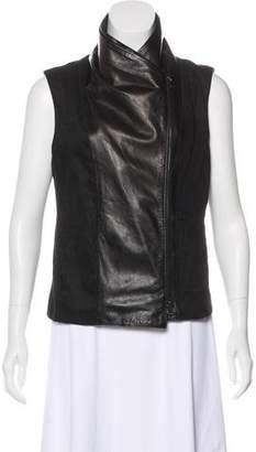 Vince Asymmetrical Zip-Up Vest