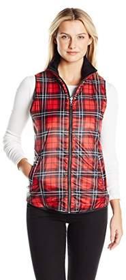 G.H. Bass & Co. Women's Printed Plaid Vest