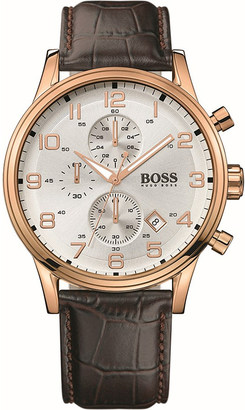 HUGO BOSS 1512519 rose gold-plated chronograph watch $345 thestylecure.com