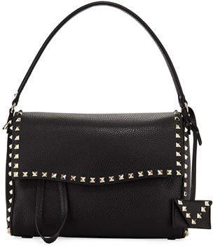 Valentino Rockstud Leather Top-Handle Bag