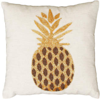 Co Jimco Lamp & Manufacturing Natural and Gold Paulina Pineapple Beaded Pillow