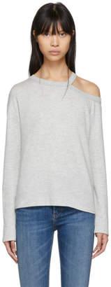 Rag & Bone Grey Long Sleeve Cut-Out Sky T-Shirt