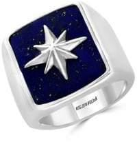 Effy Mens 925 Sterling Silver Lapis Lazuli Ring