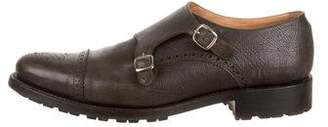 O'Keeffe Double Monk Strap Leather Oxfords
