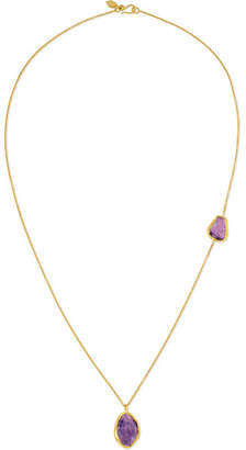 Pippa Small 18-karat Gold Amethyst Necklace