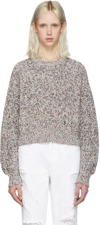 T by Alexander Wang Multicolor Cropped Sweater