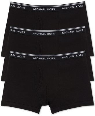 Michael Kors Men's Essentials Cotton Trunks, 3-Pack $39.50 thestylecure.com