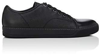 Lanvin Men's Cap-Toe Grained Leather Sneakers