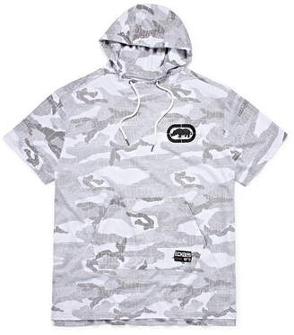 Ecko Unlimited Unltd Short Sleeve French Terry Camouflage Hoodie-Big and Tall