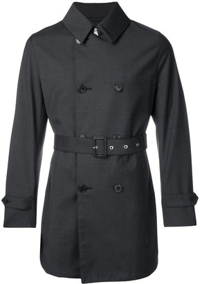 MACKINTOSH Charcoal Wool Storm System Short Trench Coat GM-005BS