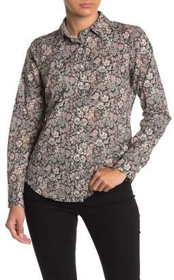 J.Crew J. Crew Floral Print Slim Perfect Shirt
