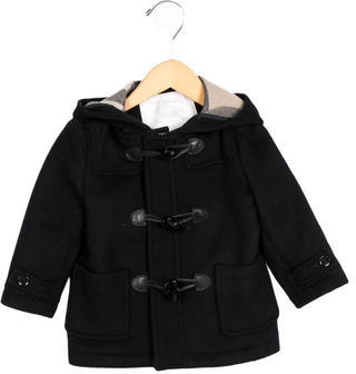 Burberry Boys' Wool Hooded Coat $225 thestylecure.com