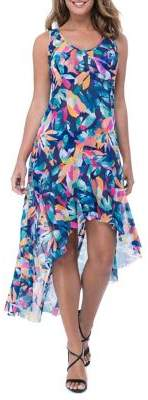Gottex Profile By Printed High-Low Mesh Dress