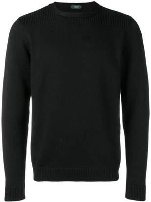 Zanone ribbed round neck sweater