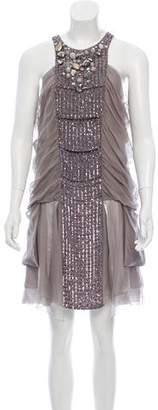 Anna Molinari Silk Embellished Dress