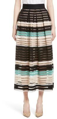 Women's Lela Rose Lace Midi Skirt $1,795 thestylecure.com