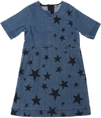 Stella McCartney STAR PRINT STRETCH COTTON DENIM DRESS