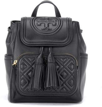 Tory Burch Fleming Backpack In Black Leather With Adjustable Shoulder Straps