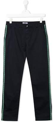 MSGM Kids TEEN logo band trousers