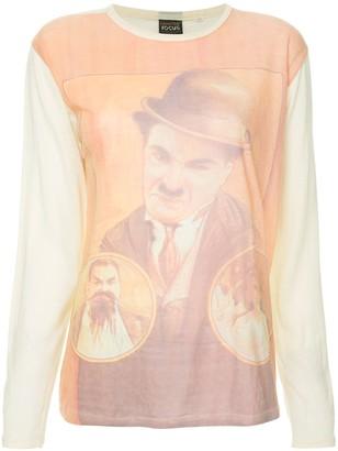 Fake Alpha Vintage Chaplin print T-shirt