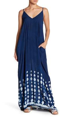 Love Stitch V-Neck Spaghetti Strap Maxi Dress