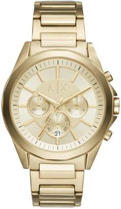 Armani Exchange Men's Gold-Tone Stainless Steel Bracelet Watch 44mm AX2602