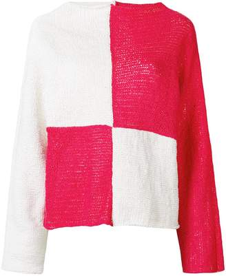 Eckhaus Latta colour block jumper