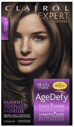 Clairol Age Defy Expert Collection Hair Color 4 Dark Brown