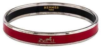 Hermes Calèche Narrow Enamel Bracelet