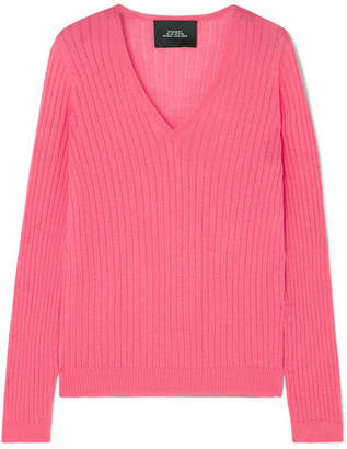 Marc Jacobs Ribbed Wool-blend Sweater