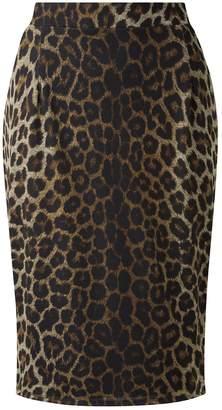 400e5746924d Evans **Grace Brown Animal Print Pencil Skirt