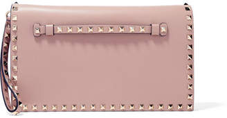 Valentino - The Rockstud Leather Clutch - Blush $1,795 thestylecure.com