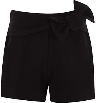 River Island Girls Black bow detail shorts