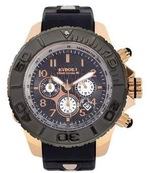 KYBOE Empire Chrono Rose Gold Shadow Stainless Steel Chronograph Strap Watch