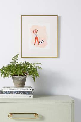 Artfully Walls Woman With Dog Wall Art