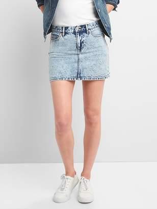 Gap Denim Mini Skirt in Acid Wash