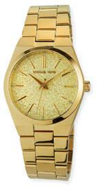 MICHAEL Michael Kors 36mm Glitter Watch w/ Bracelet Strap, Gold