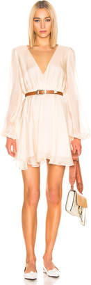 Caroline Constas Olena Dress in Blush | FWRD