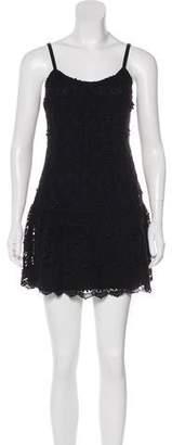 Alice + Olivia Laced Mini Dress