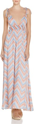 En Créme Chevron Maxi Dress - 100% Exclusive $78 thestylecure.com