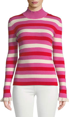Maggie Marilyn You Make Me Happy Striped Mock-Neck Sweater