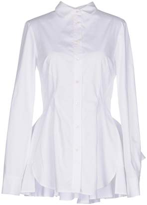 Antonio Berardi Woman Layered Pleated Cotton-poplin Top White Size 38 Antonio Berardi Cheap Fashionable s5yLmbv