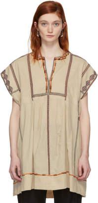 Etoile Isabel Marant Beige Embroidered Belissa Dress