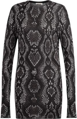 Circus Hotel Snake Skin Patter Black And Grey Fabric Dress.