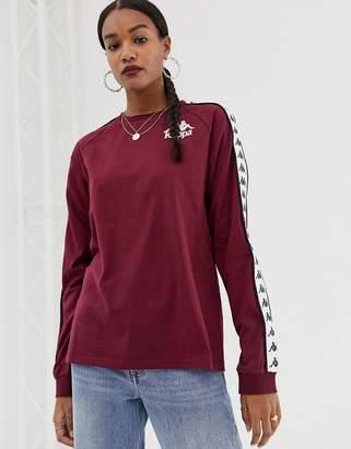 Kappa relaxed long sleeve t-shirt with banda logo taping