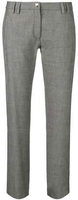 Versace stripe trim trousers