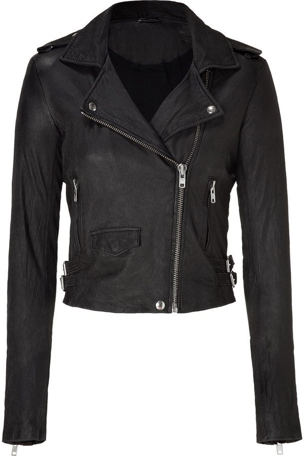 IRO Black Lamb Leather Jacket