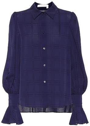 See by Chloe Plaid crêpe shirt