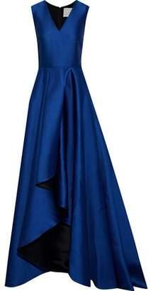 Jason Wu Pleated Satin-Crepe Gown